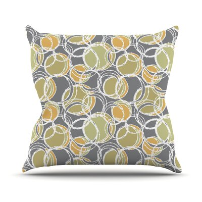 Simple Circles Outdoor Throw Pillow