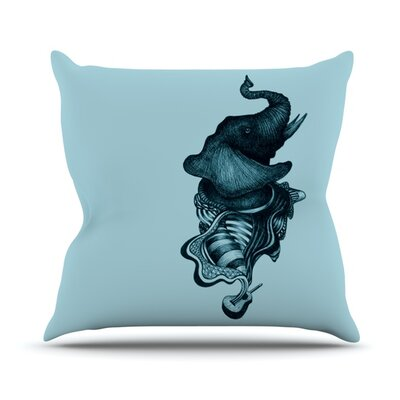 Elephant Guitar II Outdoor Throw Pillow
