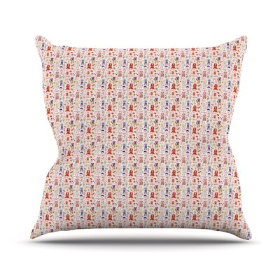 Miss Ruby Outdoor Throw Pillow