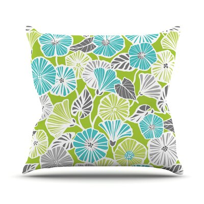 Trumpet Vine Outdoor Throw Pillow