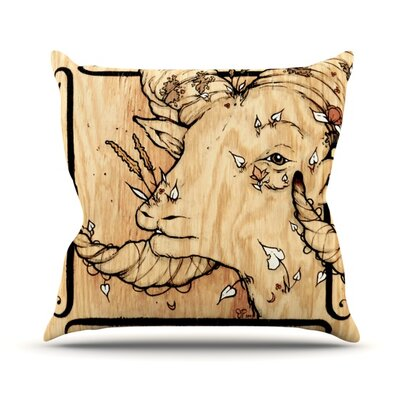 Ram Outdoor Throw Pillow
