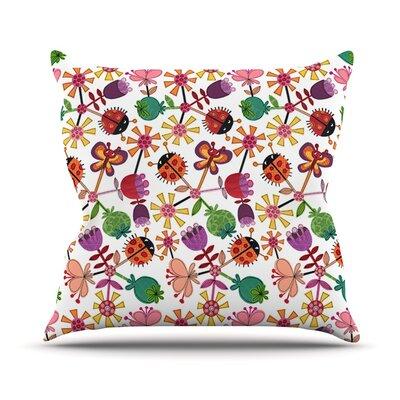 Garden Floral Outdoor Throw Pillow