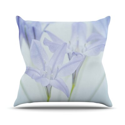 Triplet Lily Outdoor Throw Pillow
