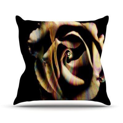 Rose Swirl Outdoor Throw Pillow