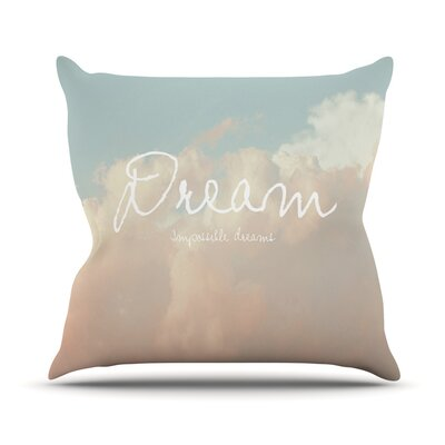 Dream Outdoor Throw Pillow