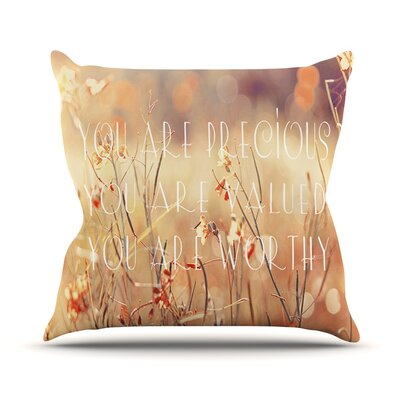 You are Precious Outdoor Throw Pillow