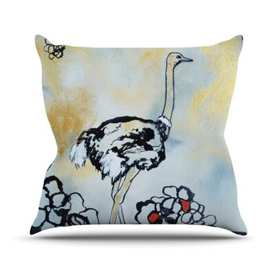 Ostrich Outdoor Throw Pillow