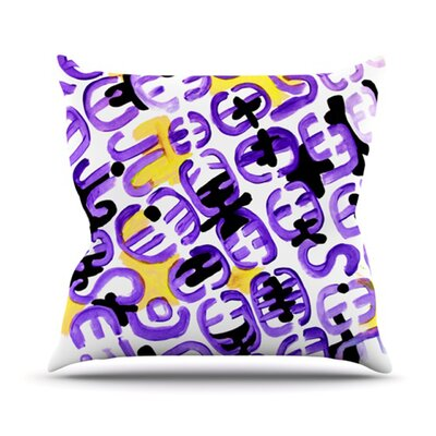 Theresa Giolzetti Outdoor Throw Pillow Color: White/Purple