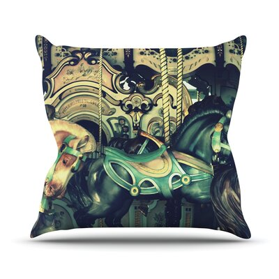 Carousel Outdoor Throw Pillow