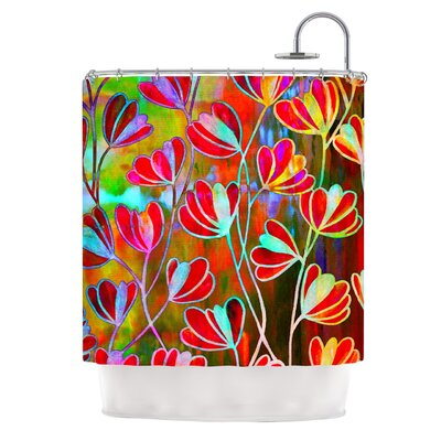 Efflorescence Technicolor by Ebi Emporium Shower Curtain