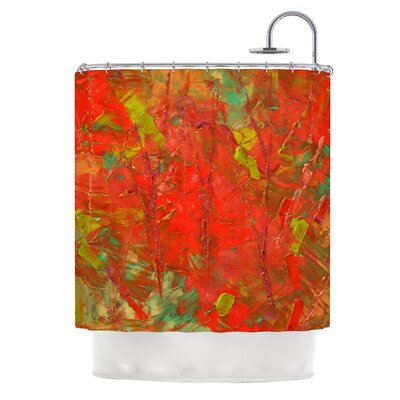 Crimson Forest by Jeff Ferst Shower Curtain