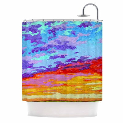 Dancing Clouds by Jeff Ferst Sunset Shower Curtain