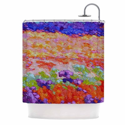Earthly Delights by Jeff Ferst Floral Abstract Shower Curtain