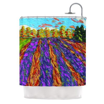 Flowers in the Field by Jeff Ferst Shower Curtain