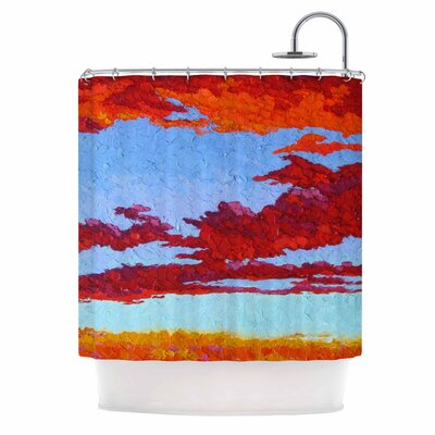 Spring Sunset over Wildflowers by Jeff Ferst Shower Curtain