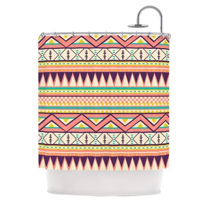 Ethnic Love by Louise Machado Tribal Geometric Shower Curtain