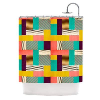 Geometric Love by Louise Machado Abstract Shower Curtain