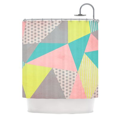 Geometric Pastel by Louise Machado Shower Curtain