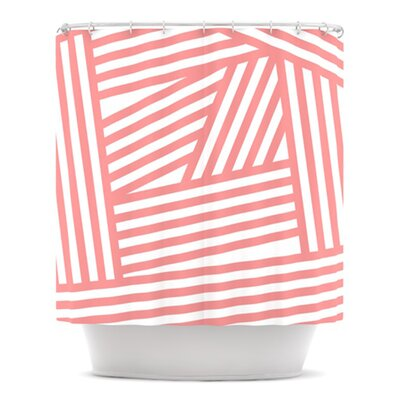 Rose Stripes by Louise Machado Shower Curtain
