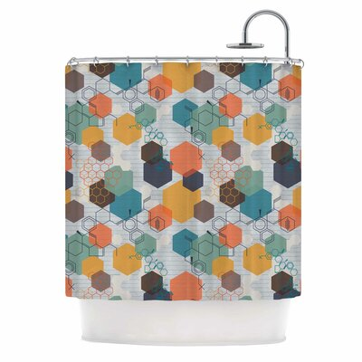 Biomolecular by Maike Thoma Science Multicolor Shower Curtain