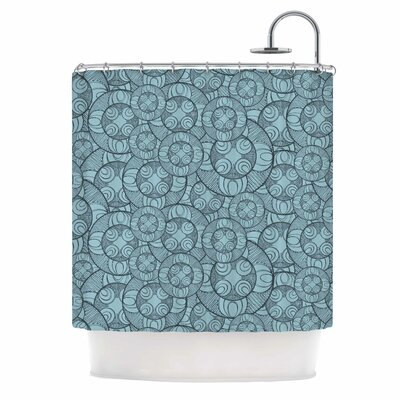 Layered Circles by Maike Thoma Floral Shower Curtain