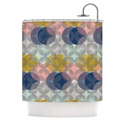 Retro Spring by Maike Thoma Shower Curtain