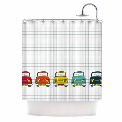 Boys Rock by MaJoBV Cars Shower Curtain