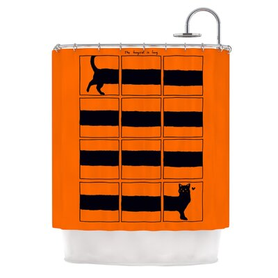 The Long Cat is Long by Tobe Fonseca Shower Curtain