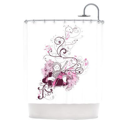 Violinist by Tobe Fonseca Shower Curtain