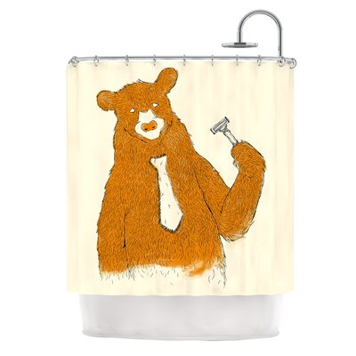 Work by Tobe Fonseca Bear Shower Curtain