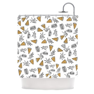 Burgers & Pizza by Vasare Nar Food Shower Curtain