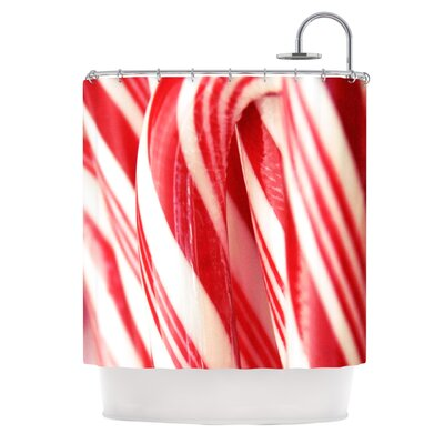 The Painted Forest by Beth Engel Candy Cane Shower Curtain