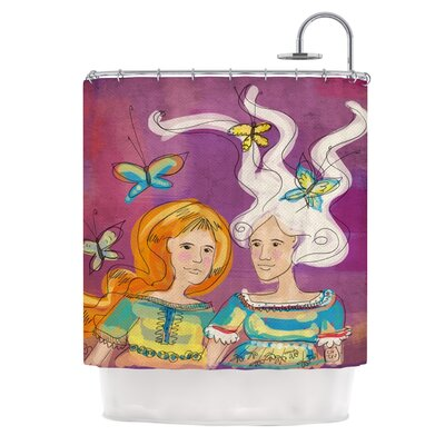 Amigas by Carina Povarchik People Shower Curtain