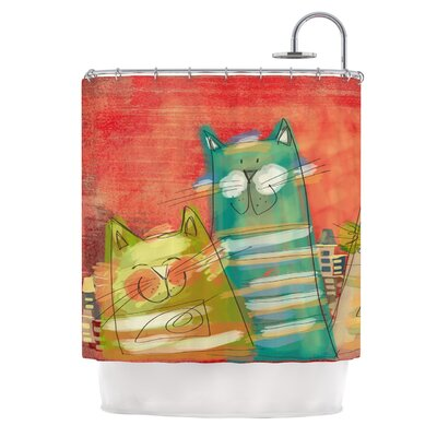 Gatos by Carina Povarchik Cat Shower Curtain