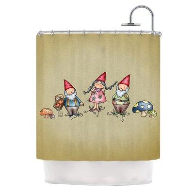 Gnomes by Carina Povarchik Shower Curtain
