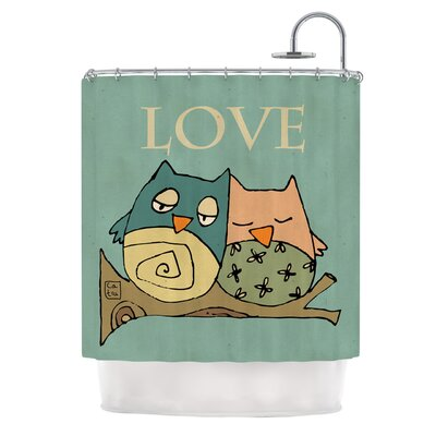 Lechuzas Love by Carina Povarchik Owls Shower Curtain