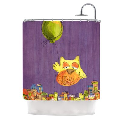 Owl Balloon by Carina Povarchik Shower Curtain