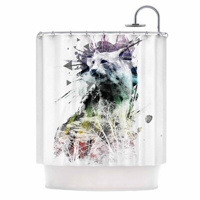 Predation Instinct by Frederic Levy-Hadida Cat Shower Curtain