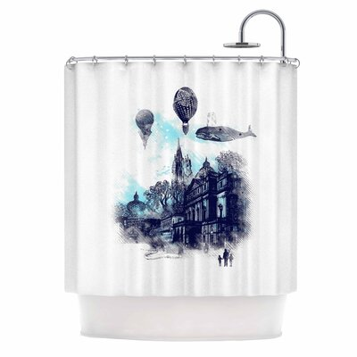 Strange Town by Frederic Levy-Hadida City Shower Curtain