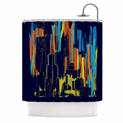 Strippy City by Frederic Levy-Hadida Shower Curtain