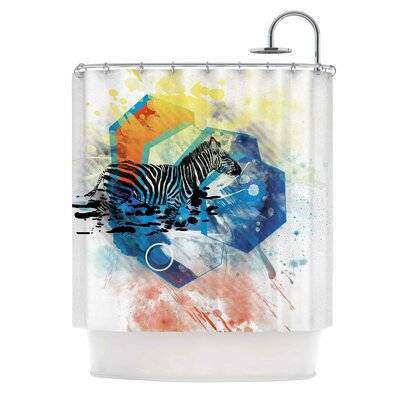 Walk Off The Colors by Frederic Levy-Hadida Zebra Shower Curtain