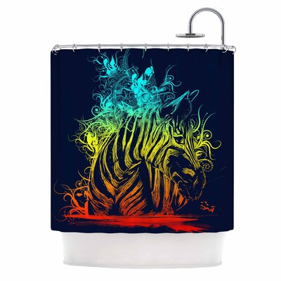 Wild Nature by Frederic Levy-Hadida Zebra Shower Curtain