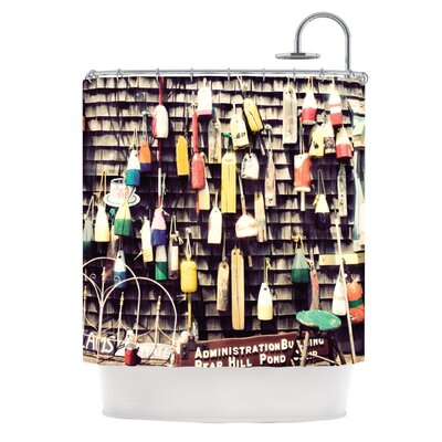 Hanging Buoys by Jillian Audrey Shower Curtain