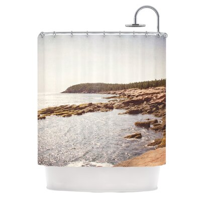 The Maine Coast by Jillian Audrey Coastal Shower Curtain
