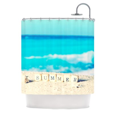 Summer at the Beach by Monika Strigel Coastal Shower Curtain