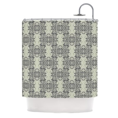 Illusion Damask Silver by Mydeas Shower Curtain