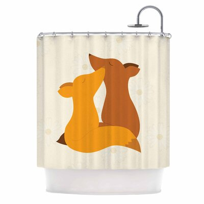 Foxy Love by NL Designs Shower Curtain