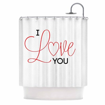 I Love You by NL Designs Shower Curtain