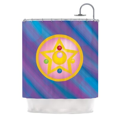 Moon by NL Designs Shower Curtain