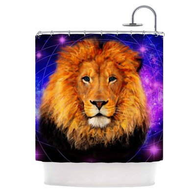 Space Lion by NL Designs Shower Curtain